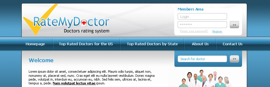 Web Design & Development for Rate My Doctor