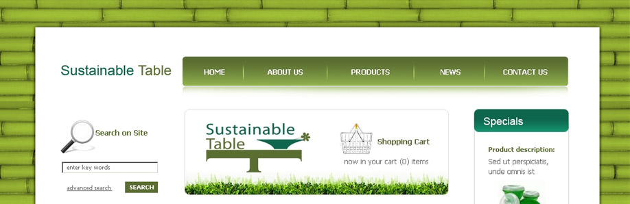 Web Design & Development for Sustainable Table